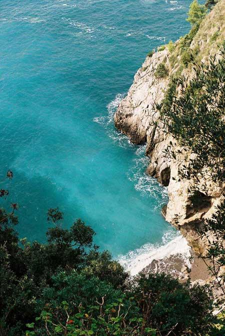 The Amalfi coast from the land